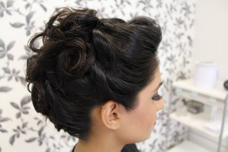 Updo Hairstyle Wedding Guest Indian Pakistani Hairdresser Hairstylist