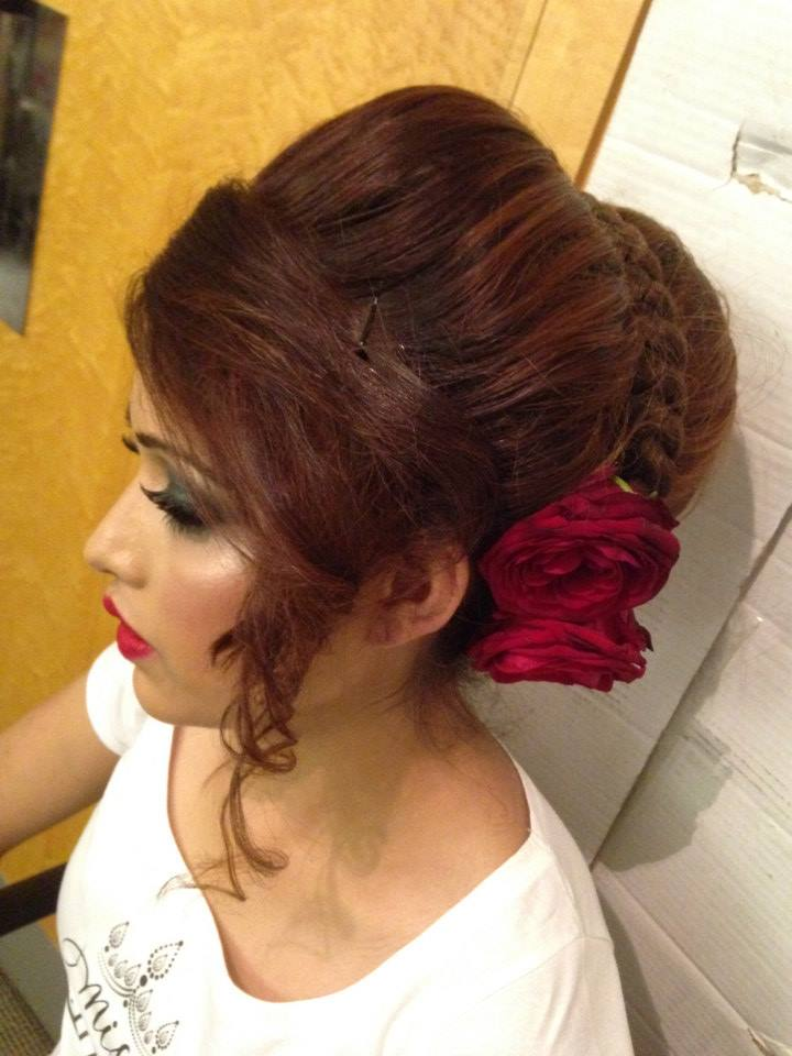 Pleasing Asian Bridal Hairstyle Shumailas Com Hairstyles For Women Draintrainus