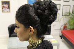 Indian-pakistani-updo-dupatta-setting-bridal-wedding-hair-hairstyle-london-ilford-essex