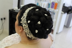 updo-top-knot-hairstyle-for-short-hair-extensions-registry-reception-engagement-hairstyle-bridal-wedding-london-ilford-essex