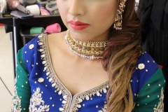sleek-asian-bridal-hairstyle-indian-pakistani-wedding-party-hair-hairdresser-salon-london-ilford-essex