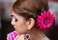 messy-chignon-indian-bridal-hairstyle-east-london-essex