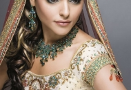 colored-curls-indian-bridal-hairstyle-east-london-essex