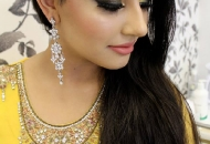 arab-inspired-smoky-eyes-bronzed-cheeks-peach-lips-asian-bridal-wedding-makeup-london-ilford-essex