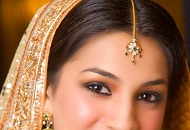 peach simple neutral asian bridal wedding makeup east london essex
