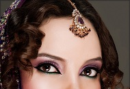 dewy purple asian bridal makeup east london essex