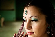 green gold asian bridal makeup east london essex
