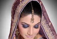 purple blue smoky asian bridal make-up east london essex