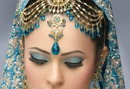 sky blue pink neutral asian bridal make-up east london essex