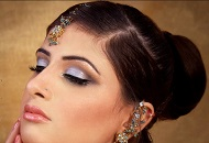 sparkly lilac bronze asian bridal make-up east london essex