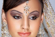 bold purple gold asian bridal make-up east london essex