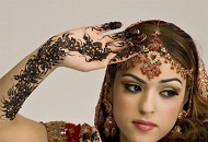 gold red traditional asian bridal makeup east london essex