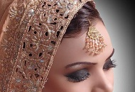 smoky eye brown lips asian bridal makeup east london essex
