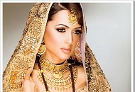 gold brown asian bridal make-up east london essex