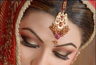 shimmery gold pink asian bridal make-up east london essex