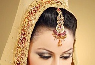 gold grey neutral simple asian wedding makeup east london essex