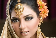 gold smoky eyes asian bridal makeup east london essex