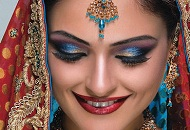 blue red asian bridal makeup east london essex