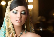 metallic blue nude lips asian bridal make-up east london essex