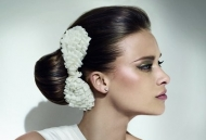 pin up magazine model hairstyle updo