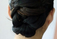 twisty bun chic hairstyle modern updo