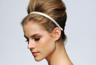simple hairstyle updo modern runway inspired