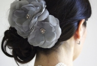 delicate bun up do wedding occasion bridesmaid