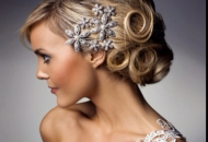 vintage volumised spiral rings hairdo bride bridesmaid