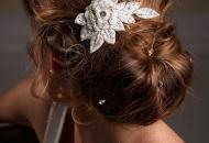 messy bun modern hairstyle updo wedding