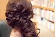 side twisted ponytail hairstyle modern asian bride