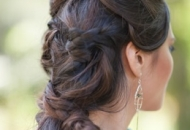 twisted plain modern hairstyle asian bride