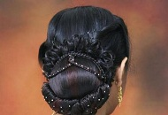 traditional indian bridal hairstyle bun up-do