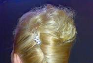 bridal occasional wedding party hairstyle up-do