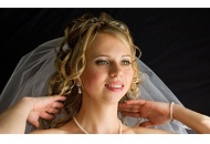 bridal wedding hairstyle traditional bride curls