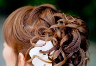 spiral ponytail haristyle wedding bridesmaid