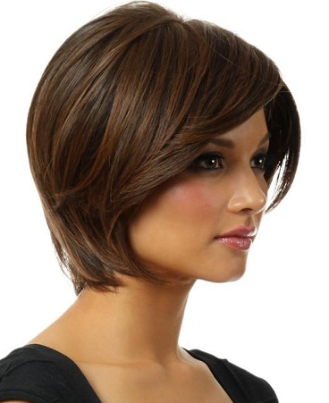 Short Indian Bob Brunette Black Hair