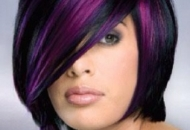 short-black-indian-bob-purple-highlights