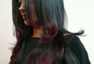 long-black-hair-long layers-red-black-dip-dye-ombre