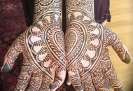 Traditional Asian Bridal Henna-Mehndi design pattern