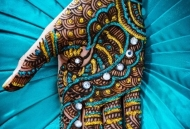 Coloured glitter & rhinestone Henna Mehndi