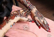 Bridal Henna Full Hand for Asian Bride
