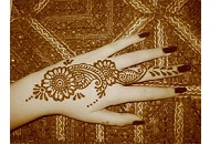Simple Henna-Mehndi application on back of the hand