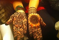 Simple Arabic-Indian Henna-Mehndi pattern design