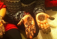 Simple Indian Henna-Mehndi pattern