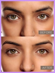 Before and After Threading Eye Brows