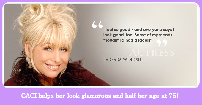 Barbara Windsor looking young at 75 with CACI