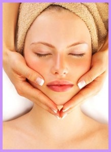 Women having facial treatment done by professional therapist