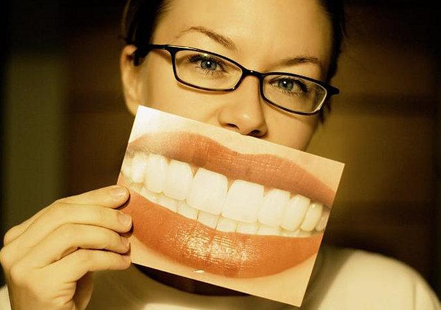Women wanting brighter, whiter teeth