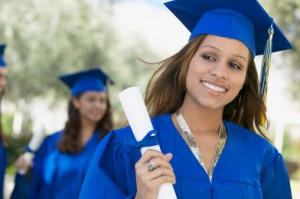 girl smiling on her graduation day