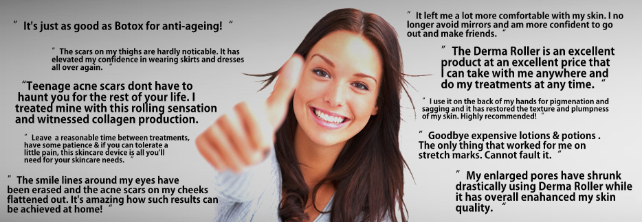 derma roller customer feedback testimonial